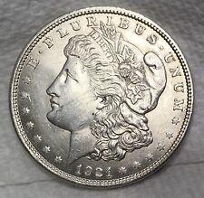 1921P MORGAN SILVER DOLLAR = UNCIRCULATED COIN