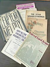 Vintage Sheet Music Lot of Early 1900's and On Great Graphics! Art Deco Rosary