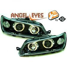LHD Projector Headlights Headlamp Pair Angel Eyes Clear Black Peugeot 306 93-97