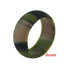 Silicone Ring Men Elegant Flexible Rubber Comfortable Outdoor Sports Band Ring