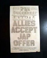 Rare Post BATTLE OF OKINAWA Japan Island U.S. Occupation 1945 Old WWII Newspaper