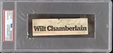 Wilt Chamberlain Signed Cut 4x5 Basketball HOF LA Lakers Autograph PSA/DNA