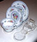 24 'NYGOORA' CUP SAUCER AND PLATE DISPLAY STANDS-AUSTRALIAN MADE- CLEAR