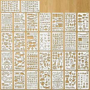 Journal Stencil Plastic Planner Stencils, 30 Pcs Children Stencil Drawing Set