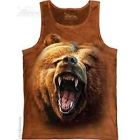 The Mountain 100% Cotton Women's Tank Top - Grizzly Growl NWT