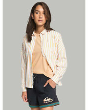NEW QUIKSILVER™  Womens Printed Jersey Short Sleeve Shirt
