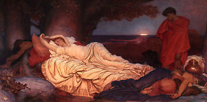 Lord Frederic Leighton - Cymon and Iphigenia Museum Grade, Poster / Canvas Print