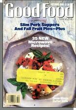 Good Food - 1988, October - Slim Pork Suppers, Fall Fruit Pies, Stuffed Shells