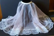 Vintage Betty Dain Creations Comb Out Cape, Sheer Pink with Lace Trim