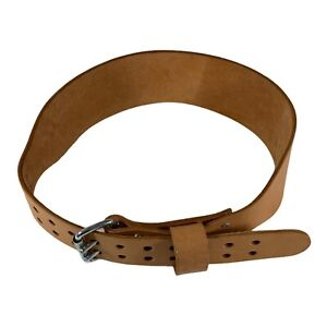 VTG Altus 2 Prong Leather Weight Lifting Belt Power Olympic Cross-fit XL 42-47