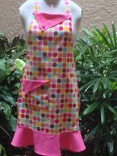Handmade Retro Style Women's Multi -Color Polka Dot Full Apron