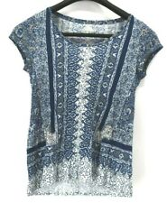 Lucky Brand Women's XS Short Sleeve Casual Summer T-Shirt Tunic Top Blue