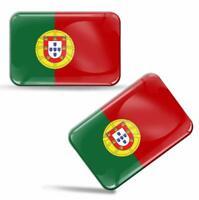 Autocollants 3D Drapeau Portugal Portugais National Portuguese Flag Stickers F30