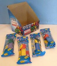 MARVEL UNIVERSE (2009) Set of 4 PEZ Dispencers with Store DISPLAY BOX -HULK