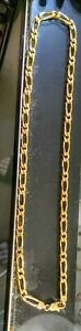 14K SOLID Yellow GOLD Unique Link Mens Chain Necklace 38-40 Grams 20 in.