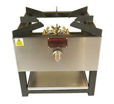 COMMERCIAL STOCKPOT COOKER / WOK 20 JET BURNER 500 x 500 NATURAL OR BOTTLE GAS