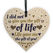 THANK YOU Gift For Stepdaughter Step Son From Step Mum Birthday Gifts Heart Sign