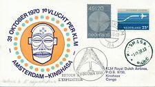1e KLM vlucht Amsterdam-Kinshasa (1970)