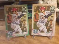 Shohei Ohtani 2018 Topps Gypsy QueenGREEN #89+Base Card RC Angels Lot Of 2 Cards