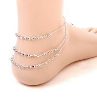Women Silver Crystal Anklet Foot Chain Ankle Bracelet Wedding Beach Jewelry