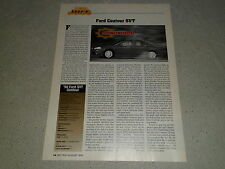 1998 FORD SVT CONTOUR article / ad