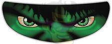 Hulk Helmet Visor Sticker Motorcycle Biker Superhero Shield Decal Tint Eyes NEW