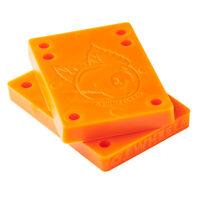 "OJ Wheels Juice Cubes Skateboard Truck Riser Pads 3/8"" Orange Set Of 2"