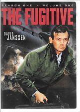 The Fugitive  :David Janssen  Season 1 Volume 1  , 4-Disc USED DVD Set