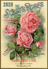 2020 Wall Calendar [12 pages A4] Roses Flowers Vintage Seed Pockets Garden M563