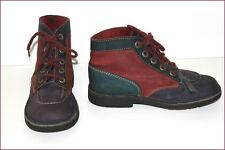 KICKERS Bottines Boots Nubuck Tricolore T 39 BE