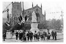 pt2495 - Queen Victoria Statue , Blackburn , Lancashire - photograph 6x4