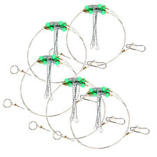 1x 92cm Long Swivel String Sea Fishing Hook Anti-Winding Steel Rigs Wire Leader