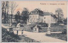 (104689) AK Pulsnitz, Schlossgarten mit Schloss, 1922