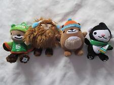 VANCOUVER 2010 Winter OLYMPIC SET 4 Mascot Plush DOLLS¤QUATCHI¤MUKMUK¤MIGA¤SUMI