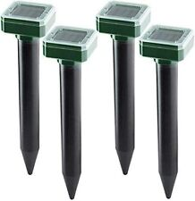 Mole Repellent 4 Pack Ultrasonic Solar Powered Animal Repellent for Outdoor Lawn