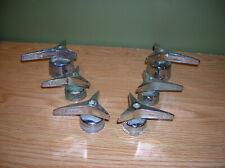 6 Vintage Antique Kohler Faucet Handles Chrome Brass Mid Century Modern