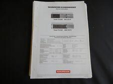 Original Service Manual  Nordmende TU 990 TU 991
