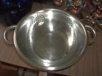 """Nice Large 11"""" Stainless Strainer Collander"""