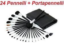 N 24 pennelli professionali estetista per trucco,brush,eyeliner,ombretto,definer