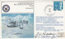 60th 1st Atlantic air crossing signed F Reichelderfer Pilot 1919 & D McCampbell