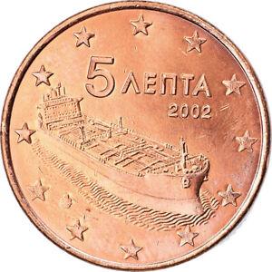 [#795571] Grèce, 5 Euro Cent, 2002, Athènes, TTB+, Copper Plated Steel, KM:183