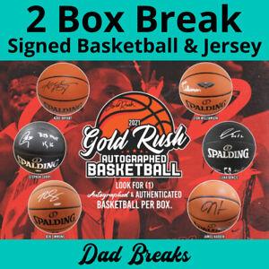 BOSTON CELTICS autographed Gold Rush basketball + signed jersey 2 BOX LIVE BREAK