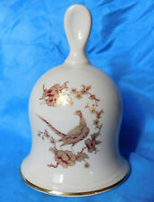 Royal Worcester Palissy bell golden pheasant Royale game bird Staffordshire