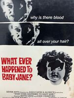 What Ever Happened to Baby Jane VHS 1962 Bette Davis Joan Crawford Horror B & W