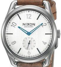 PRE-OWNED $325 Nixon Men's C39 Analog Display Swiss Quartz Brown Watch A4592067