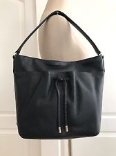Cole Haan Women's Black Leather Reiley Hobo Tote Shoulder Bag NWT CHR11283
