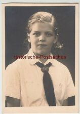 (F12270) Orig. Foto Porträt junge Frau Wilfriede Degen, Kiel 1936