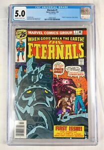 Eternals #1 CGC 5.0 looks 8.5 (1976 Marvel) Comic Book, Jack Kirby Story - Read