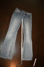Miss Me Women's Jeans size 28 x 29  sequins frayed bottoms light colored