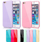 PER IPHONE 8 7 6s plus PASTELLO CANDY BRILLANTE Morbida Silicone Custodia Gel